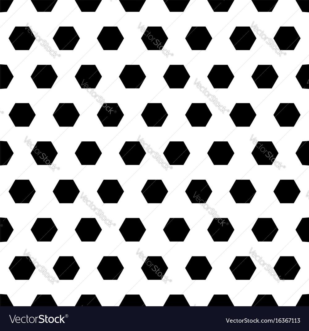 Black hexagons monochrome seamless pattern vector image