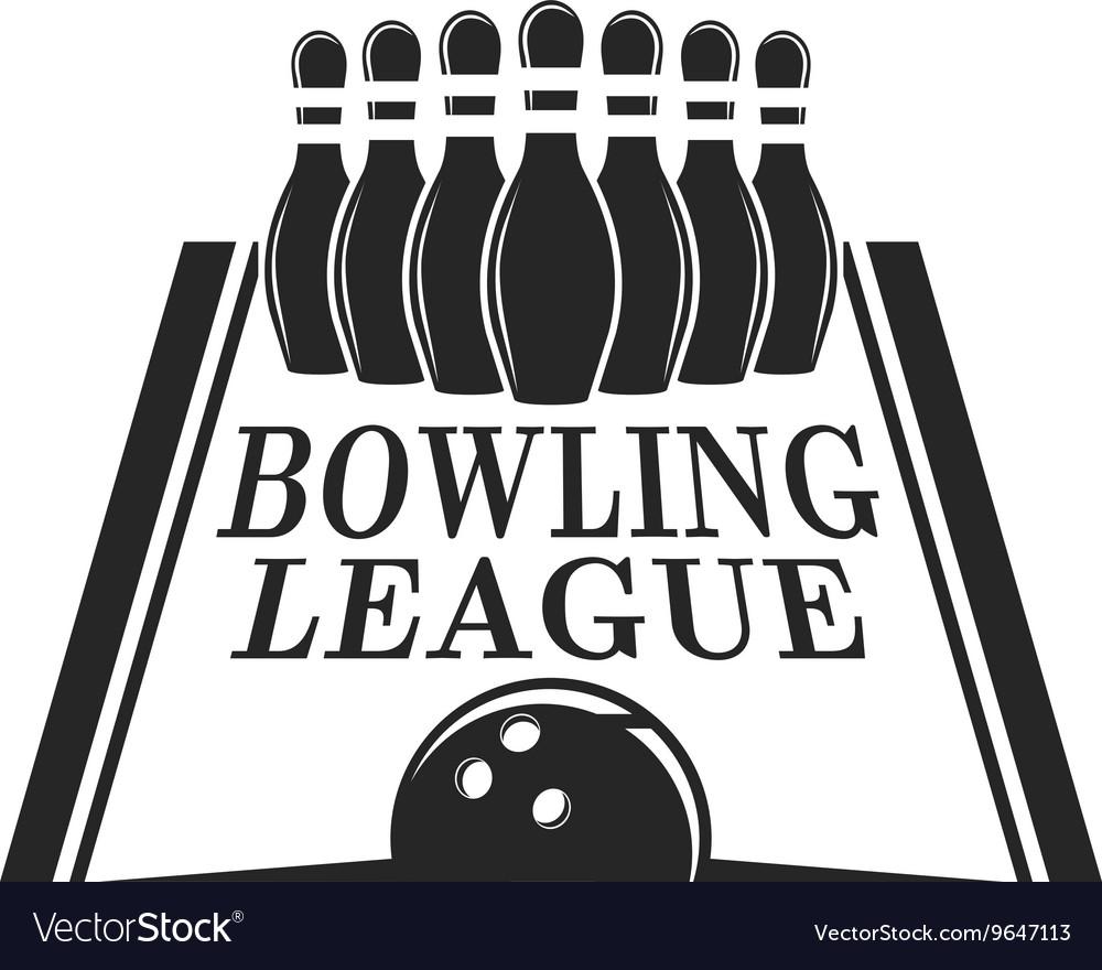 Bowling emblem logo badge vector image
