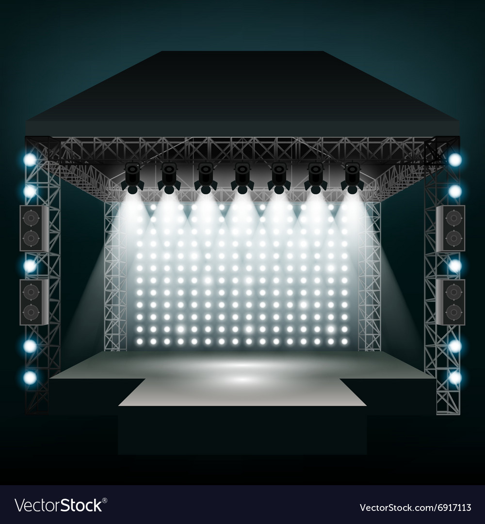 Concert stage with spotlights