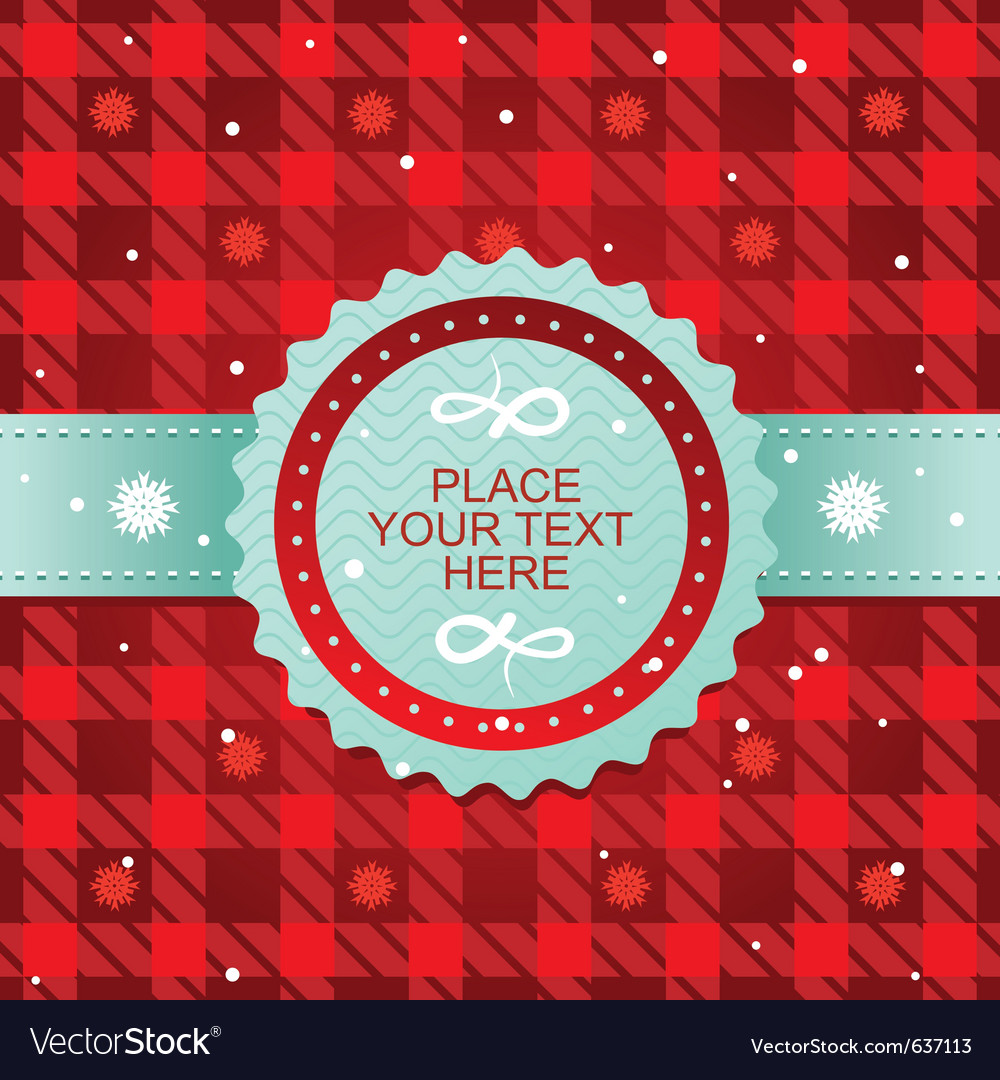 Cute christmas background vector image