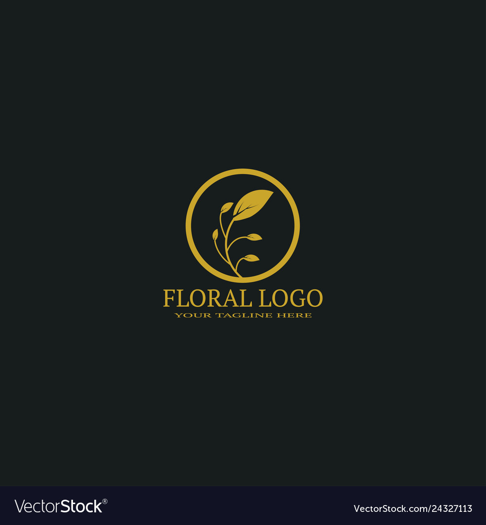 Floral logo template logo for business corporate
