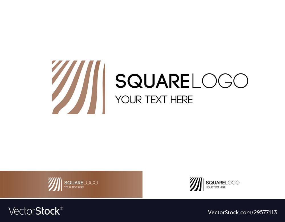 Gold linear logo square shape