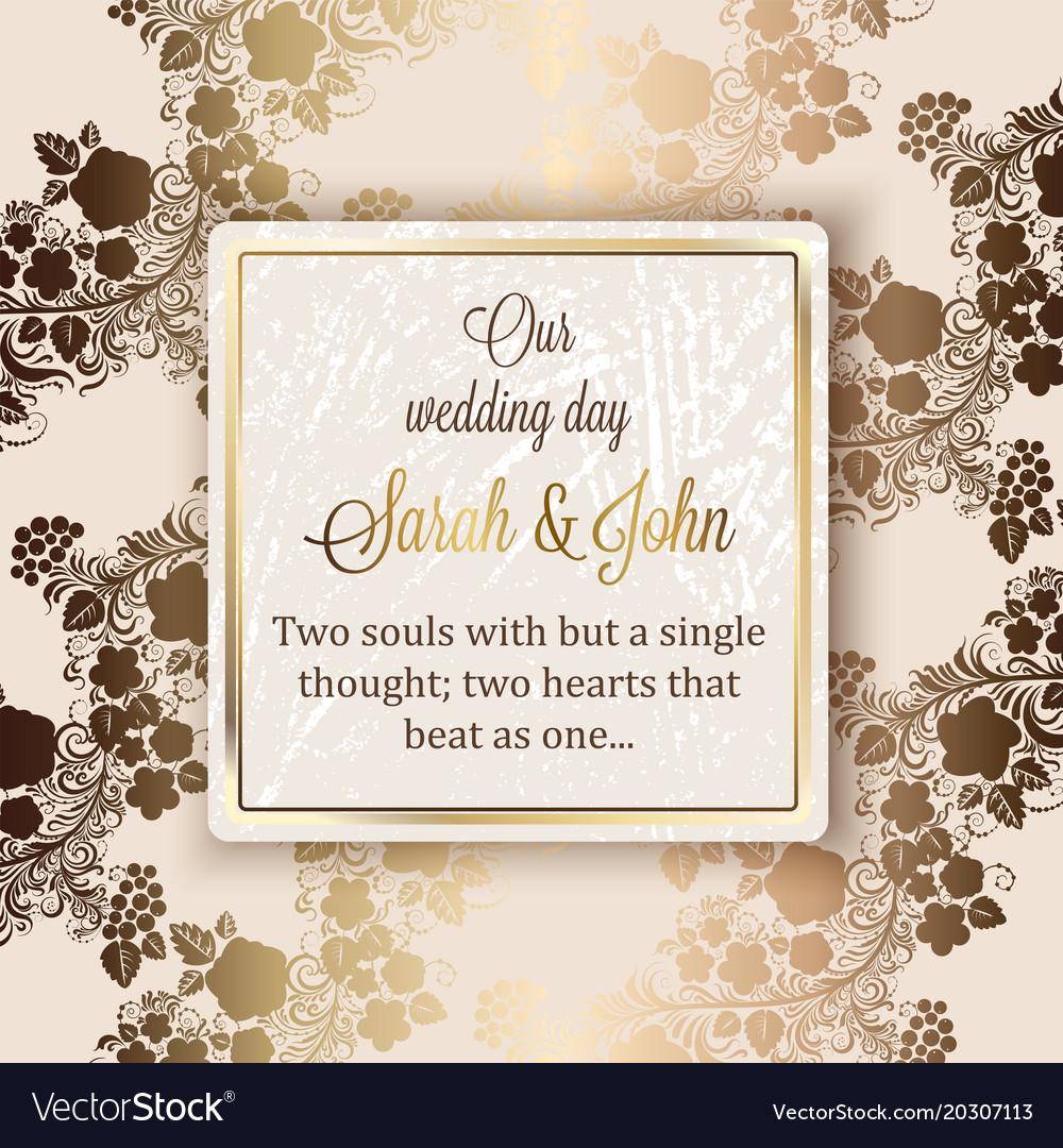 Luxury Wedding Invitations.Intricate Baroque Luxury Wedding Invitation Card