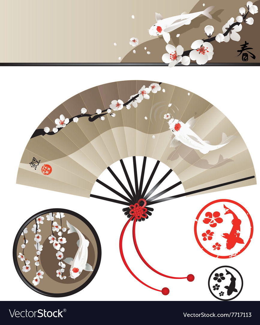 Japanese fan set
