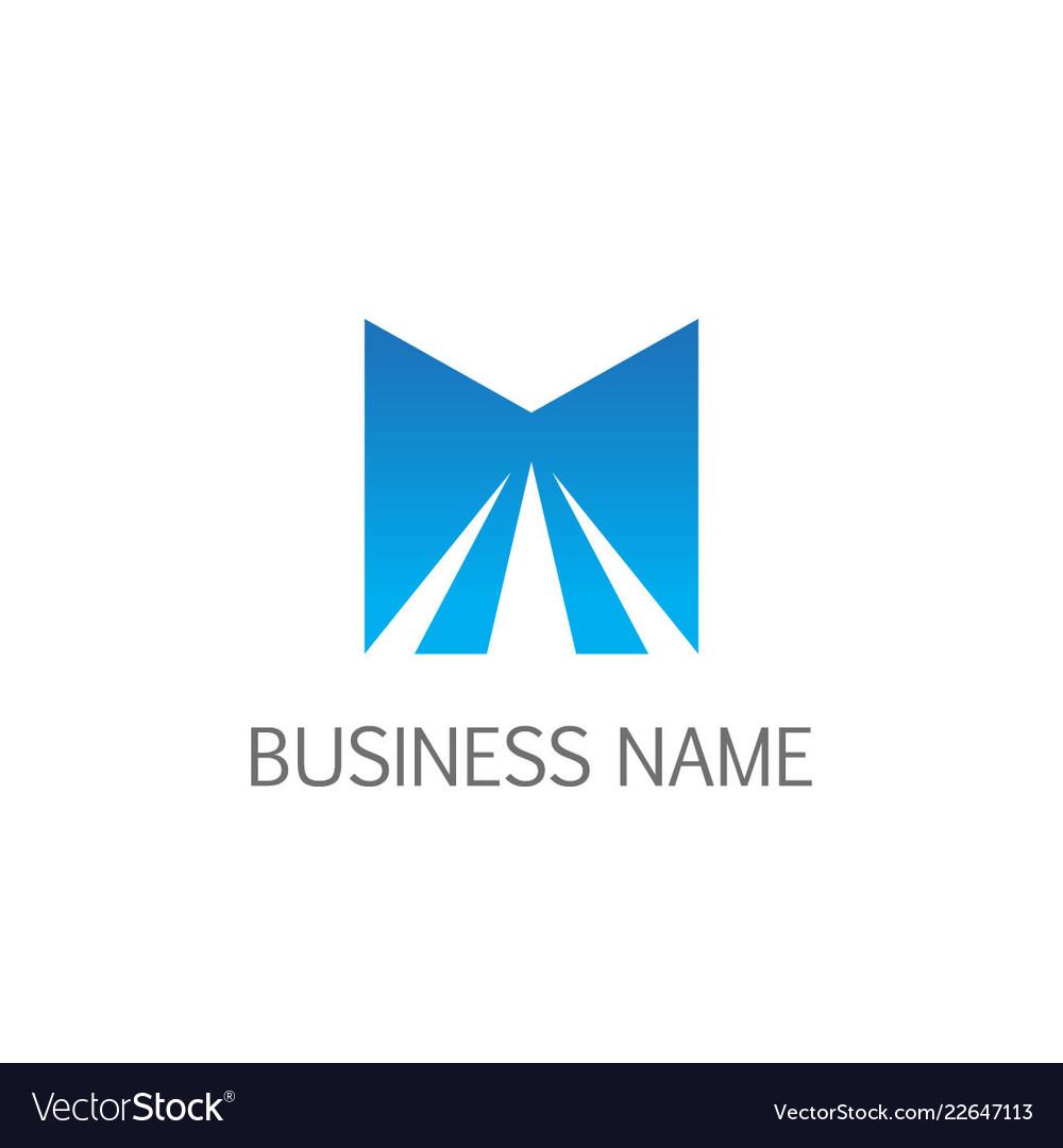 Letter m shine logo