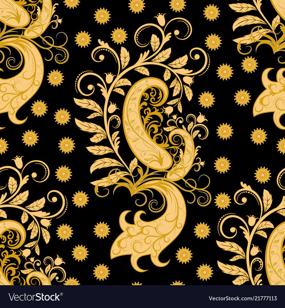 Ornate seamless golden pattern