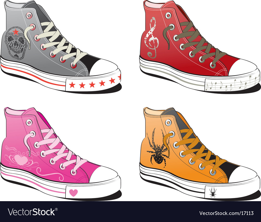 Shoes with various symbol