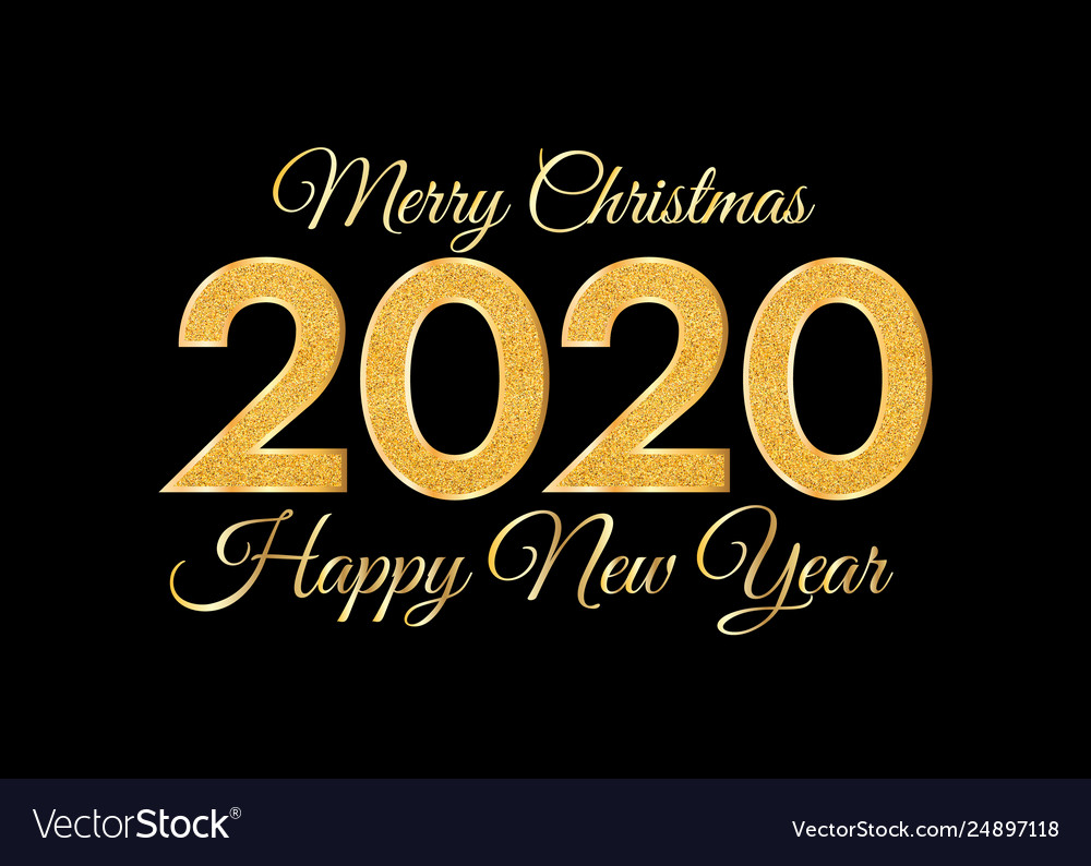 Christmas 2020.2020 Merry Christmas And Happy New Year Golden