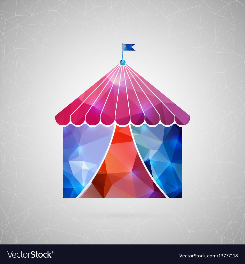 Abstract creative concept icon of circus