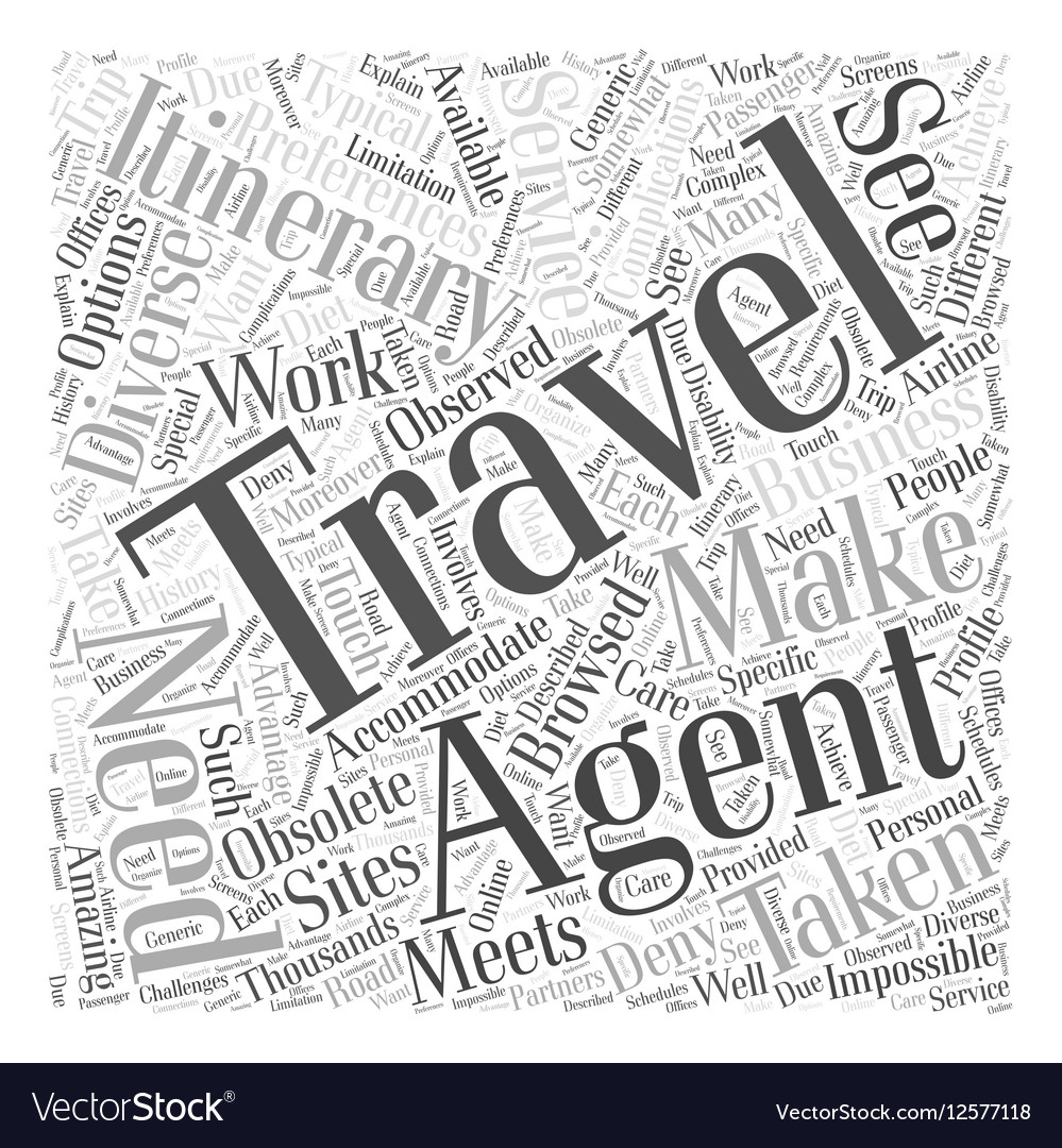Are Travel Agents Obsolete Word Cloud Concept