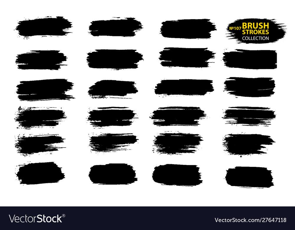Black ink brush strokes thin dirty