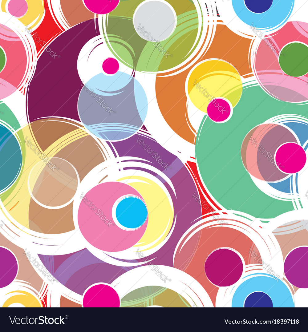 Bubble ornamental background circle seamless