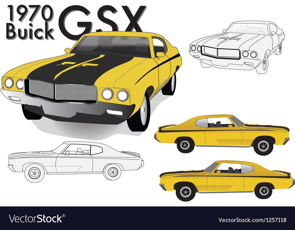 Buick GSX 70s Model vector image
