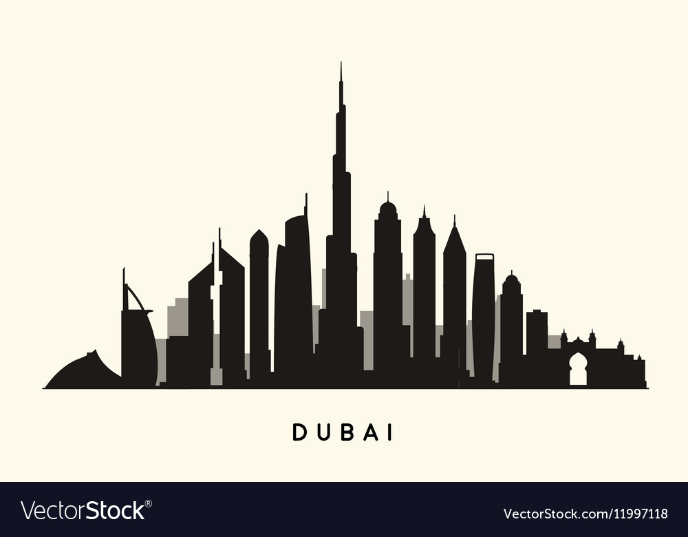 City Buildings Silhouette Vector