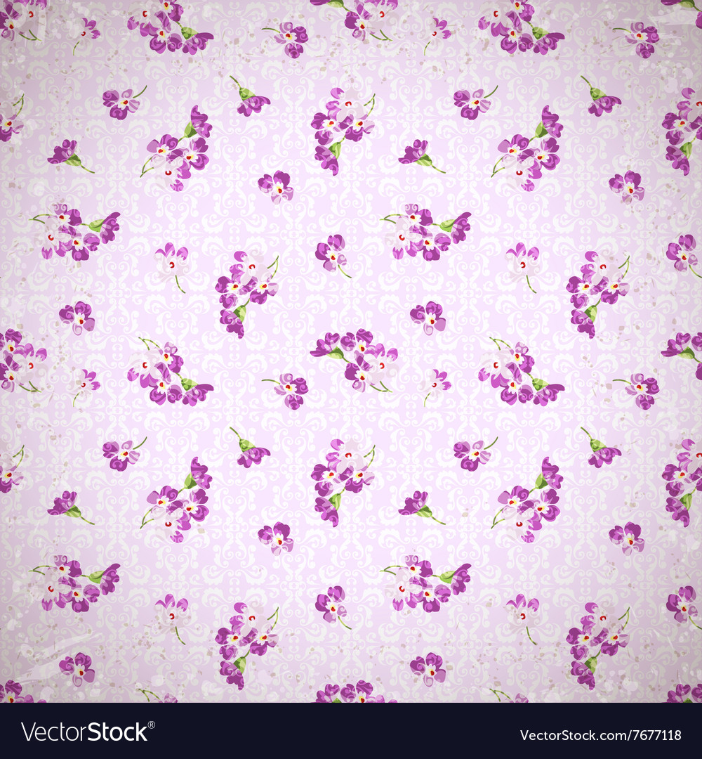 Pattern With Little Pink Flowers Royalty Free Vector Image