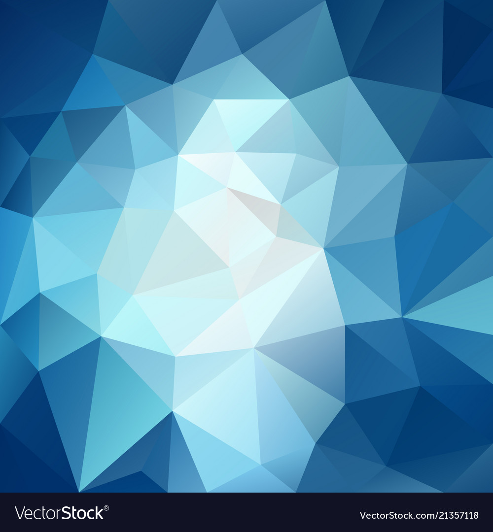 Polygonal square background sky blue vector image