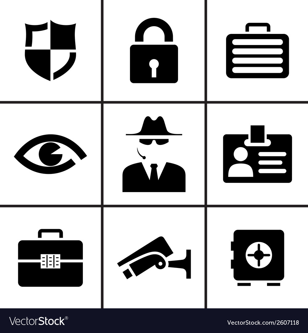 security and safety icons set royalty free vector image