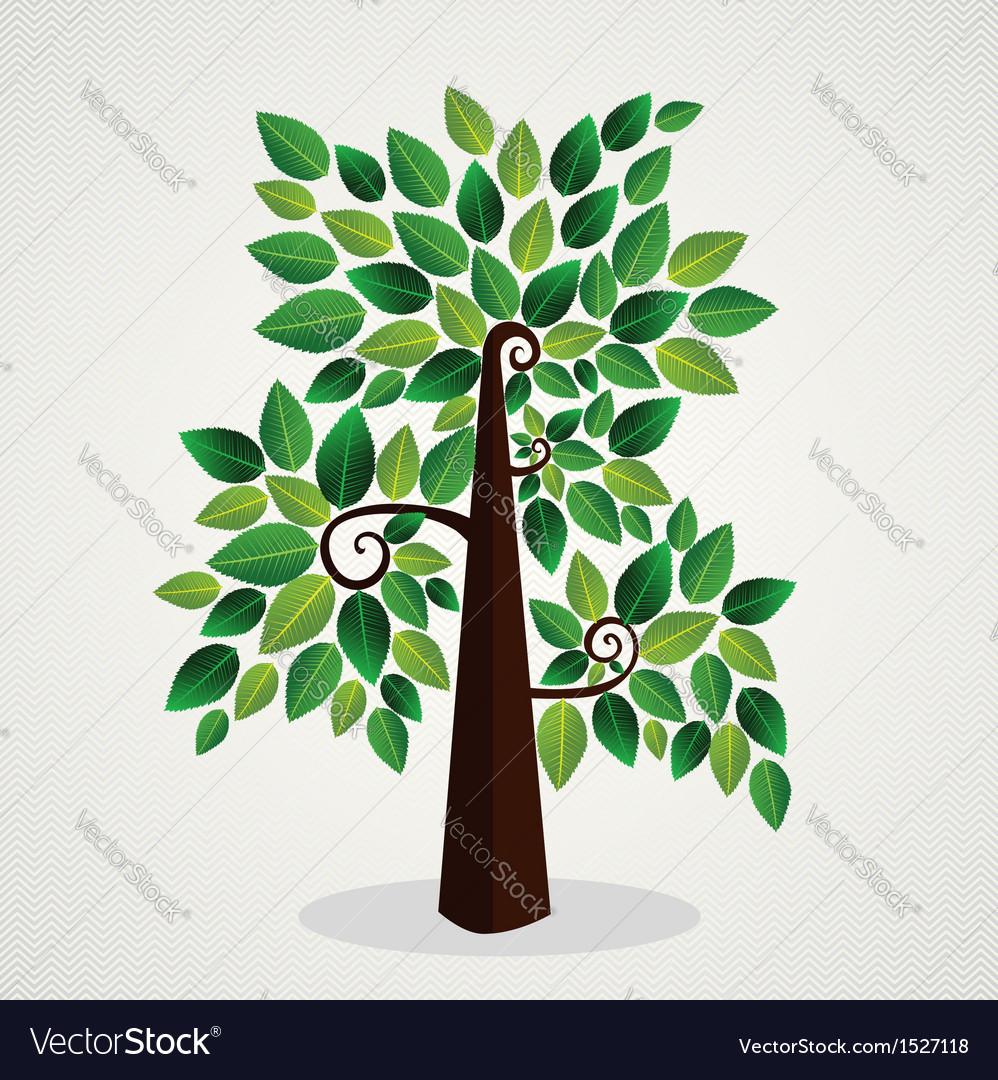 Sketchy green tree vector image