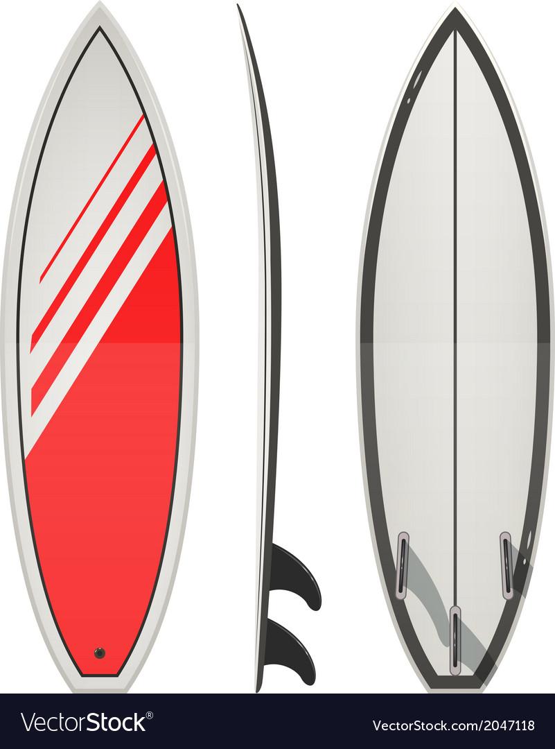 surfing board royalty free vector image vectorstock