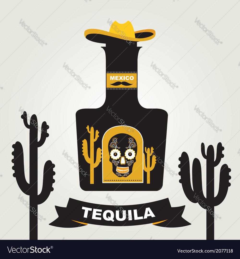 Tequila menu design Mexican drink