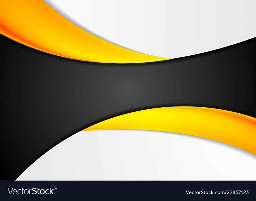 Abstract corporate bright orange wavy background