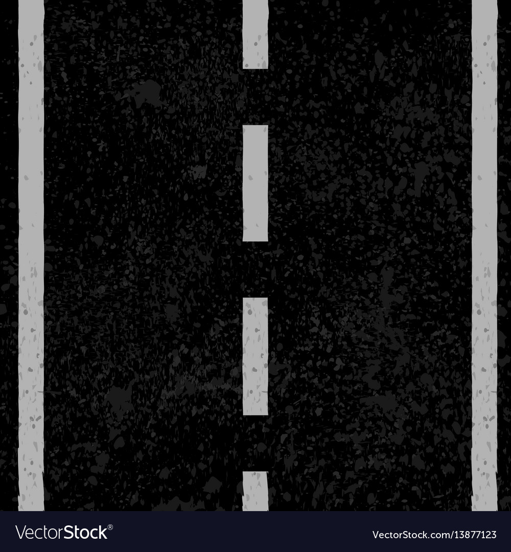 Asphalt with white lines