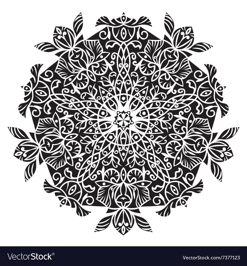 Circular pattern Islamic ethnic ornament for