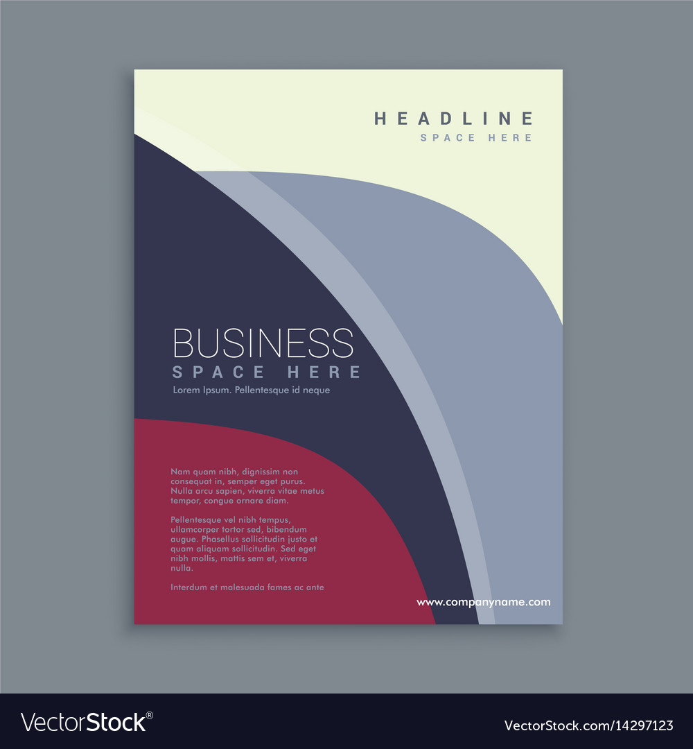 corporate magazine page template royalty free vector image