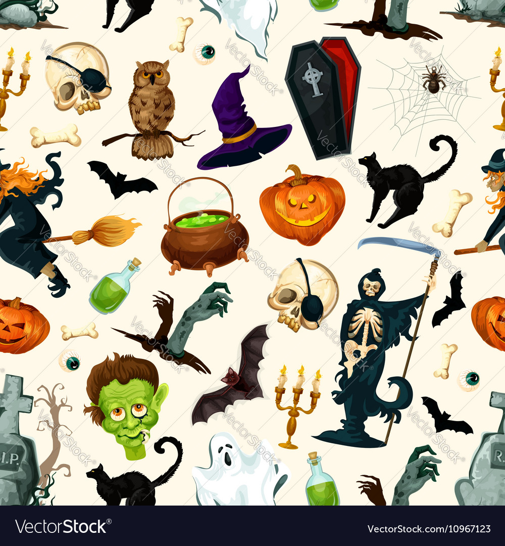 Halloween party symbols pattern