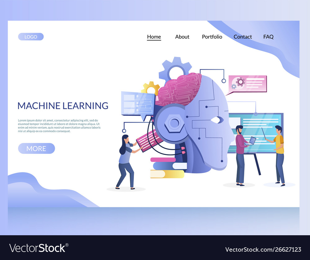 Machine learning website landing page
