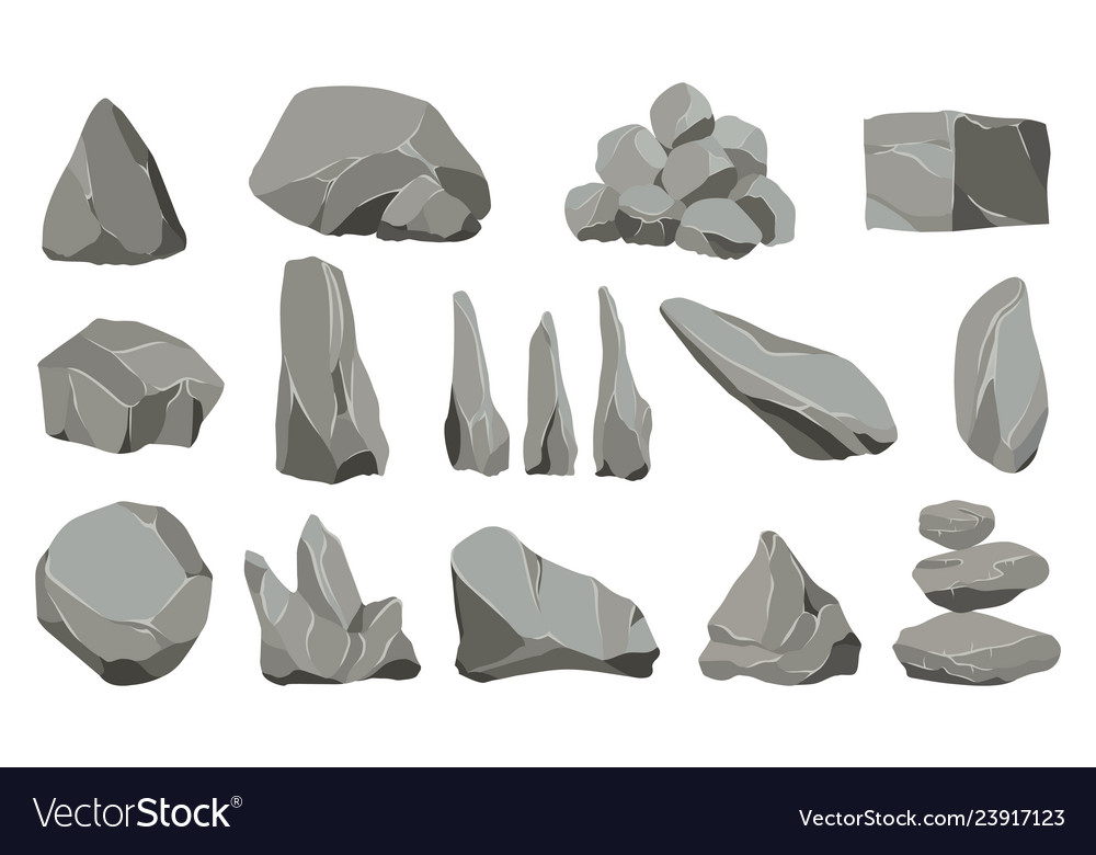 Rock stones graphite stone coal and rocks pile