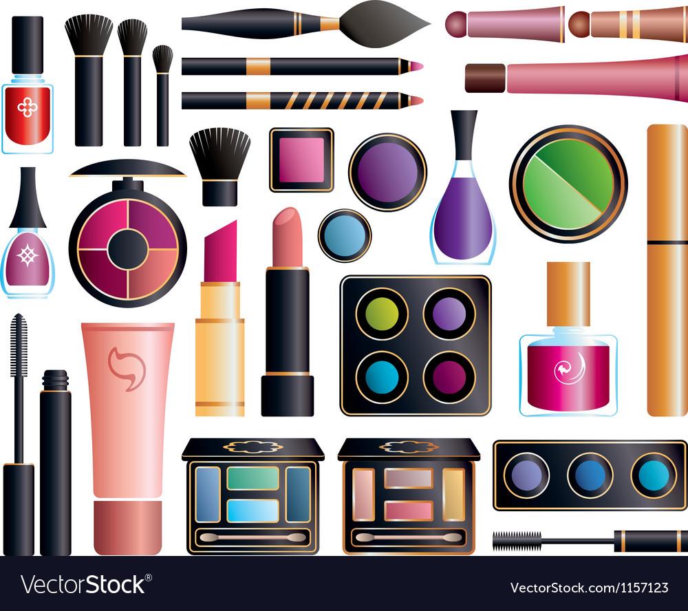 Set of cosmetics vector image