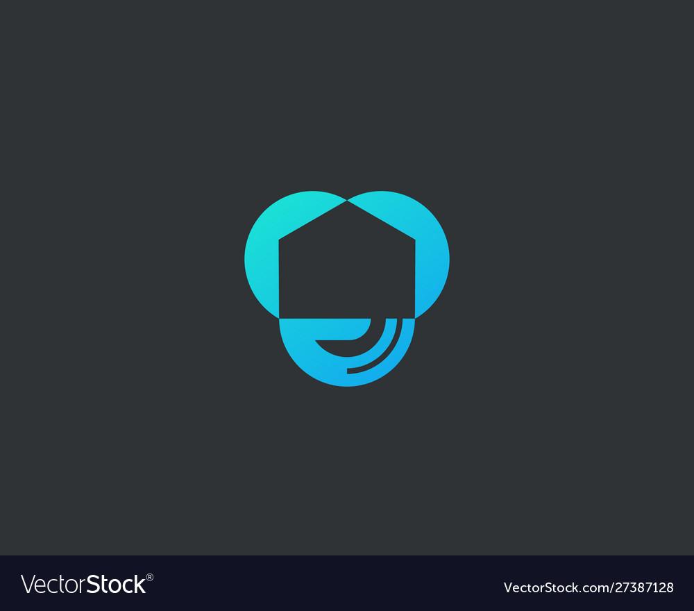 Abstract house hand logo icon design modern