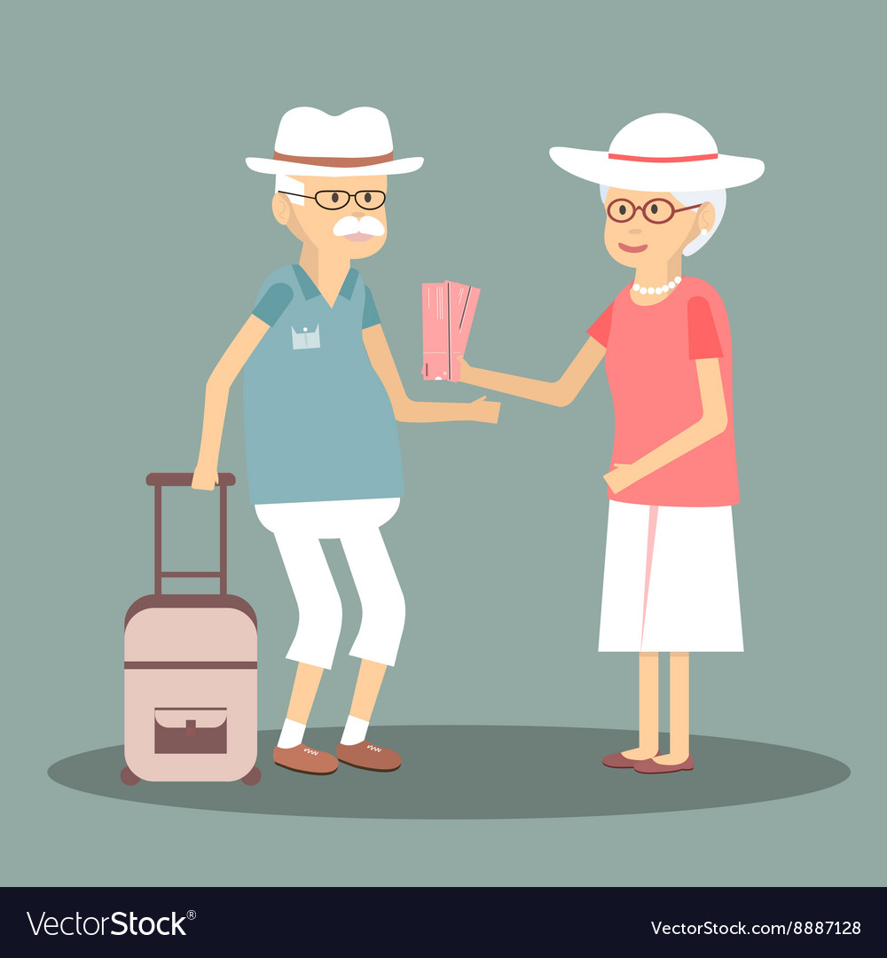 An Elderly Couple Travels