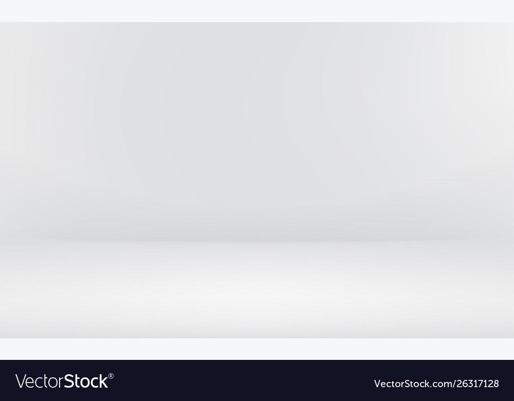 Empty bright white room