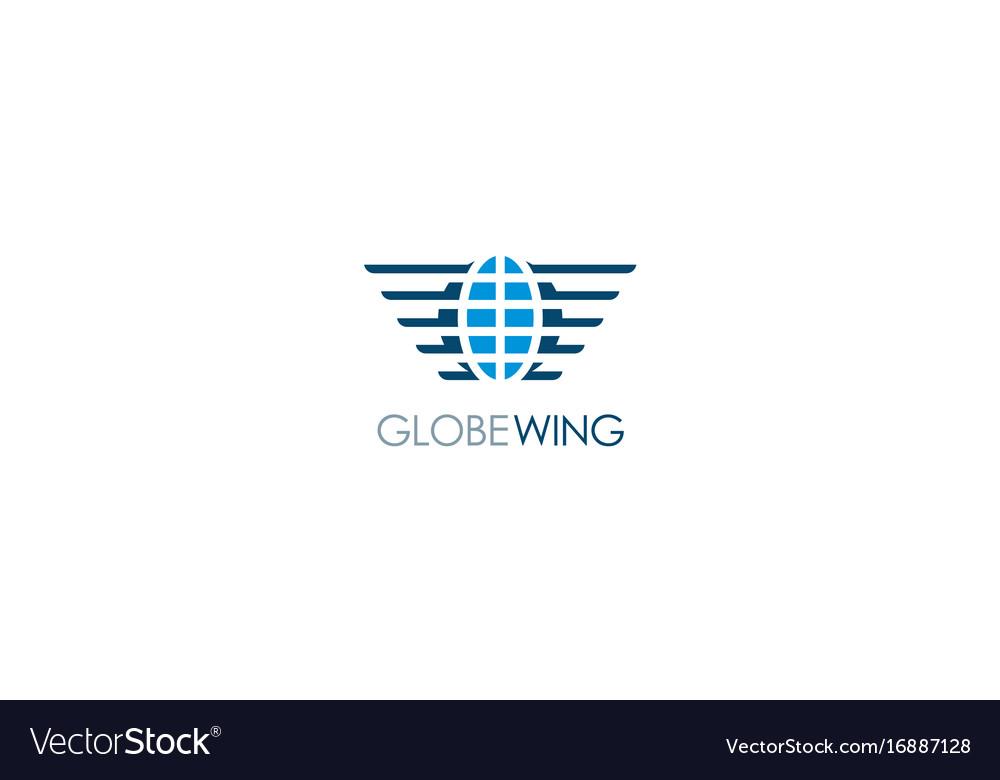 Globe wing emblem logo