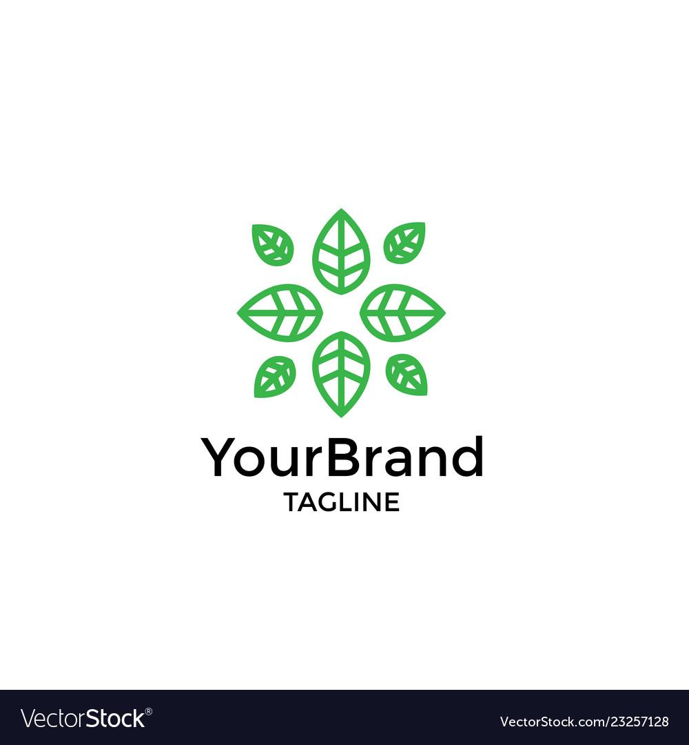 Luxury and modern leaf logo template