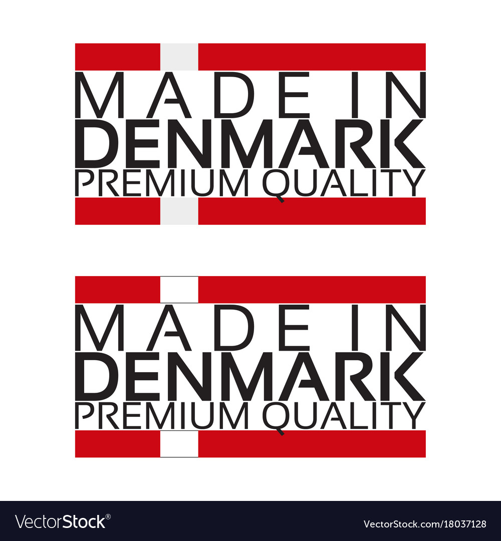 Made in denmark icon premium quality sticker with vector image