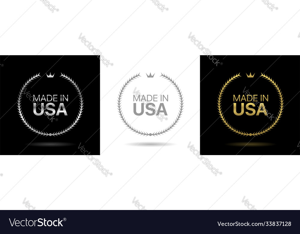 Made in usa wreath icons