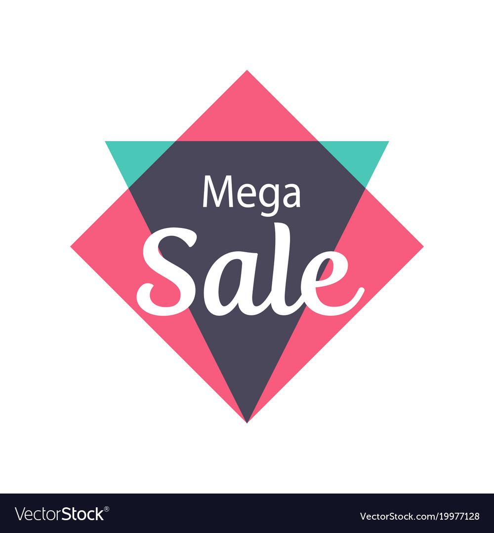 Mega sale isolated sticker
