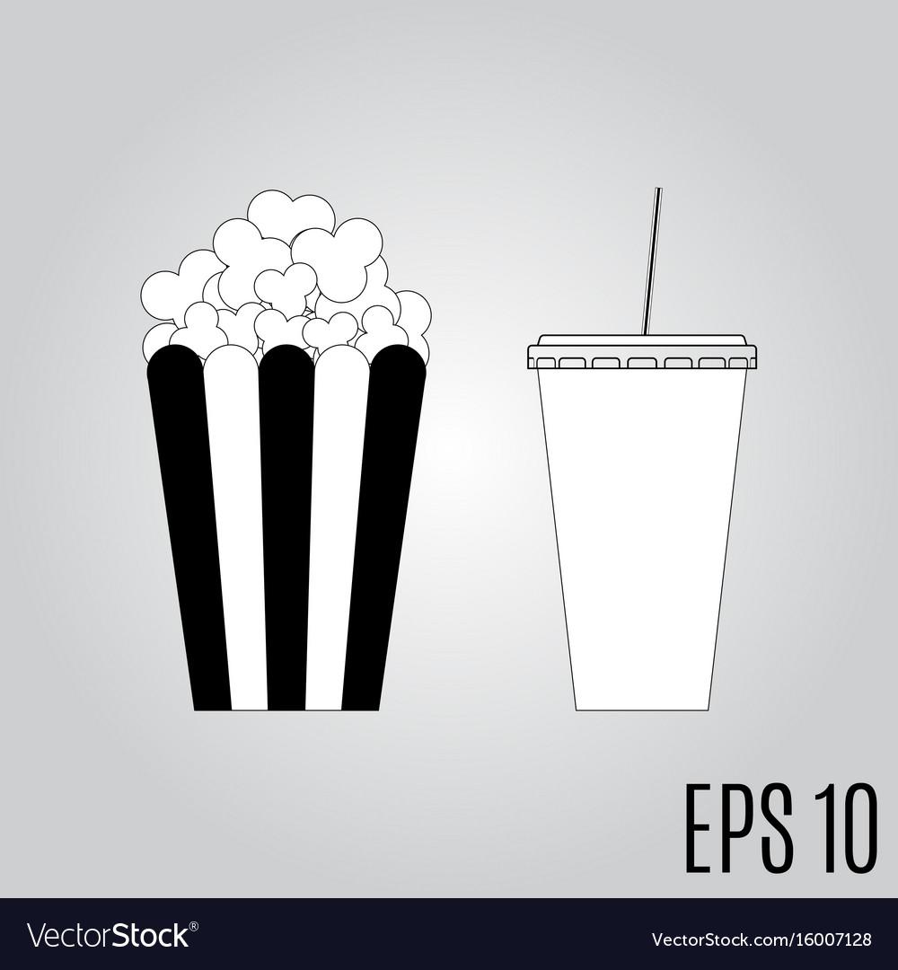 Popcorn and soda icon