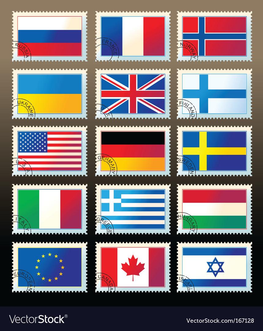 Postmark flag