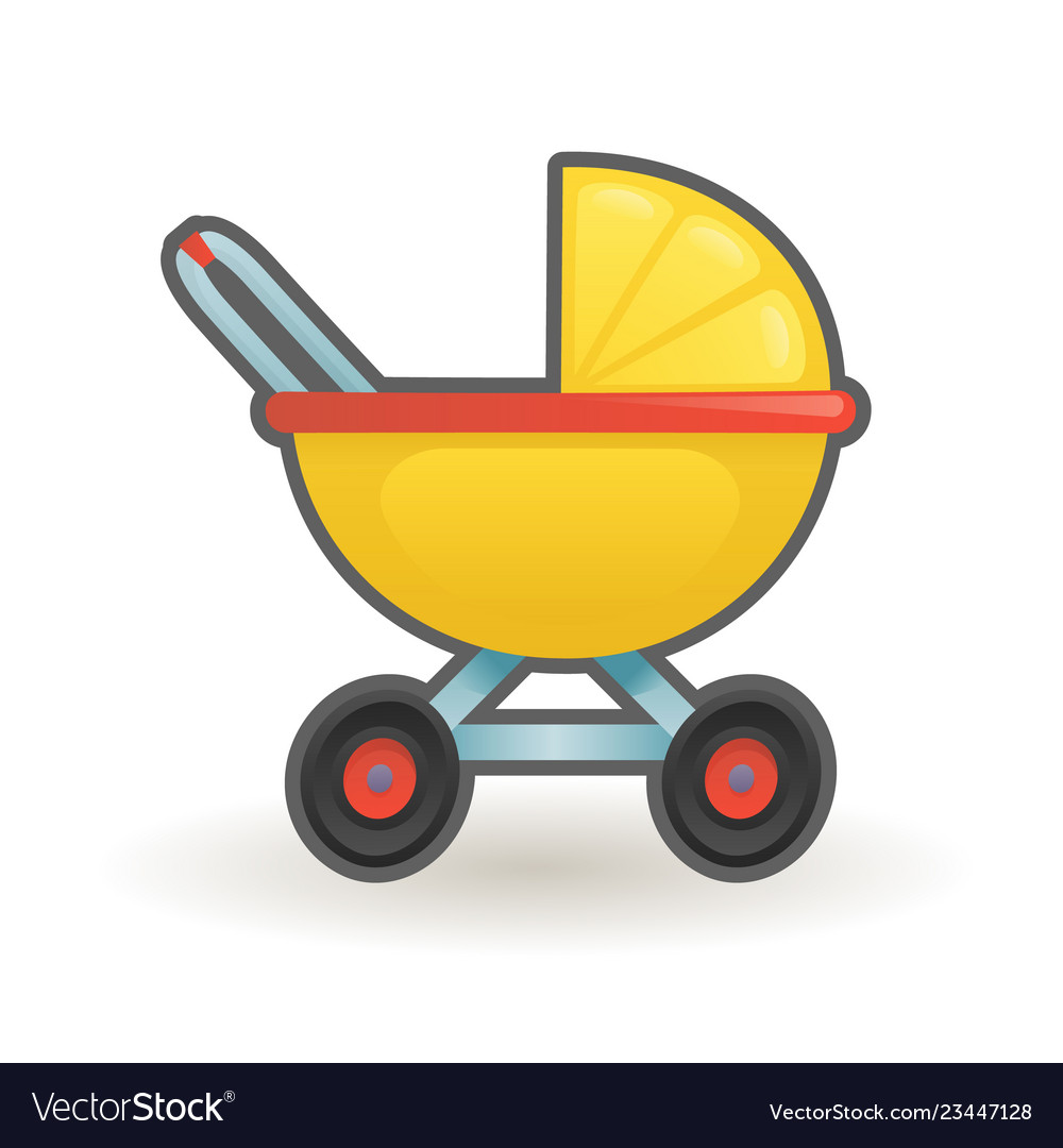 Pram baby carriage buggy cartoon design