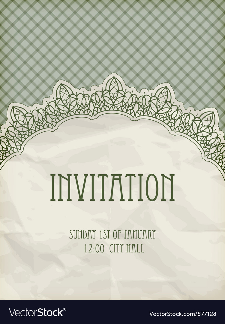 Retro invitation template