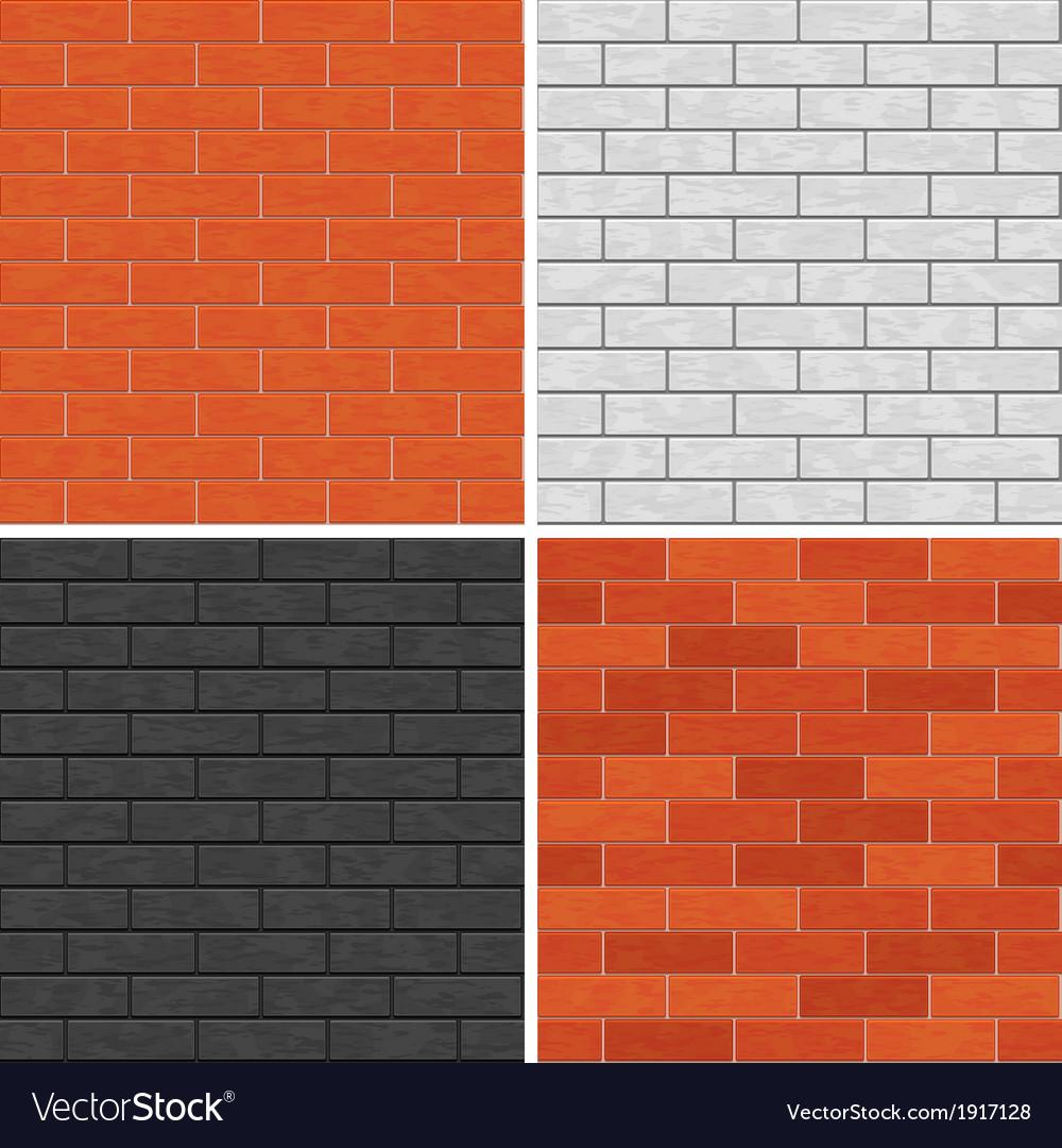 Seamless Brick Wall Patterns Royalty Free Vector Image