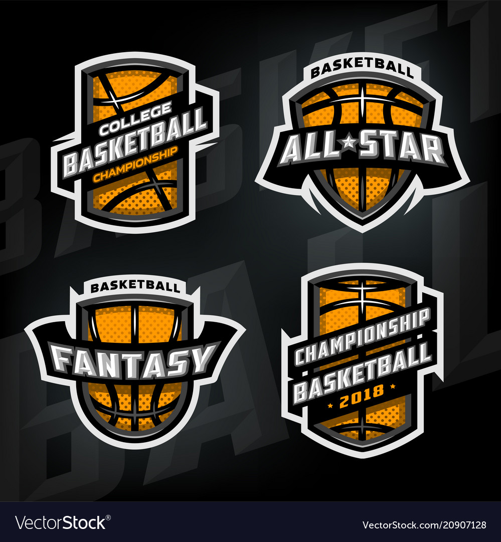 Set basketball sports logos