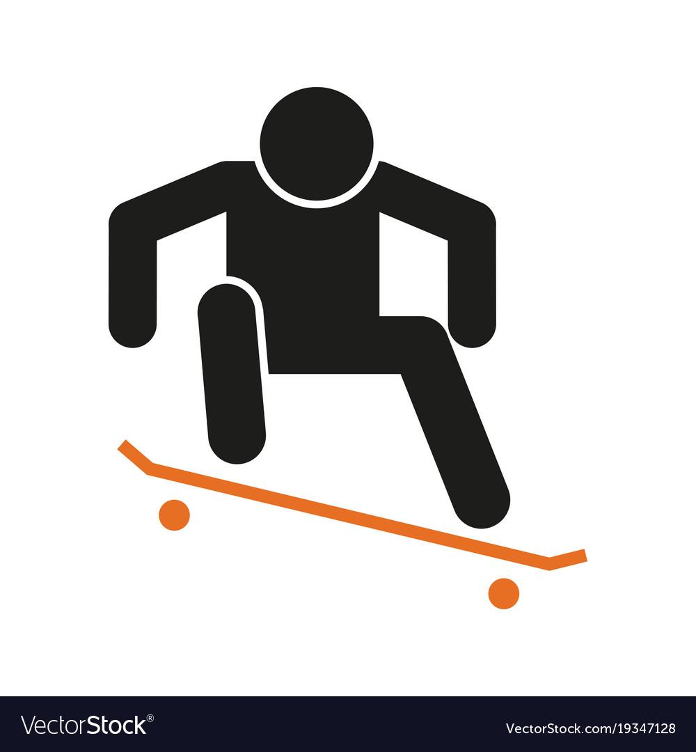 947a886047144 Simple skateboard ollie sport figure symbol Vector Image