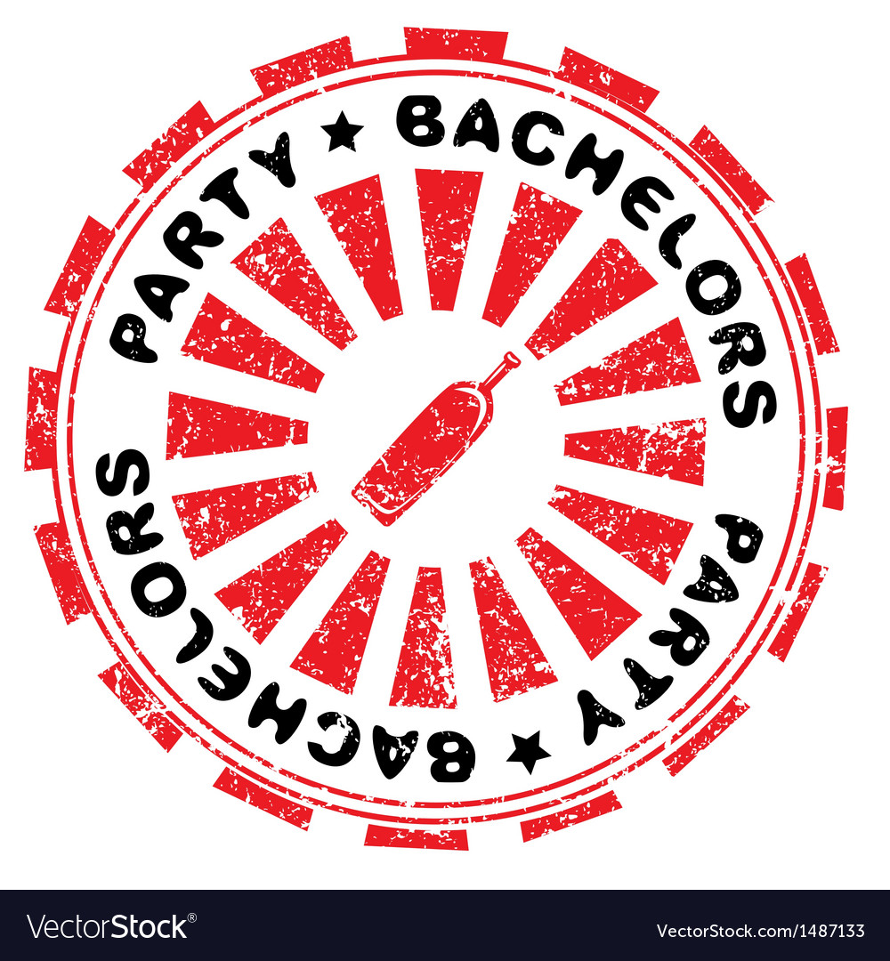 Bachelors party stamp Royalty Free Vector Image