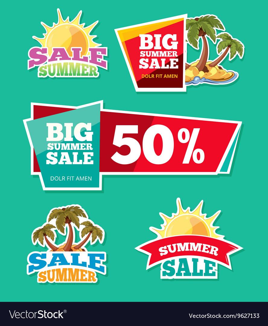Emblems for big summer sales