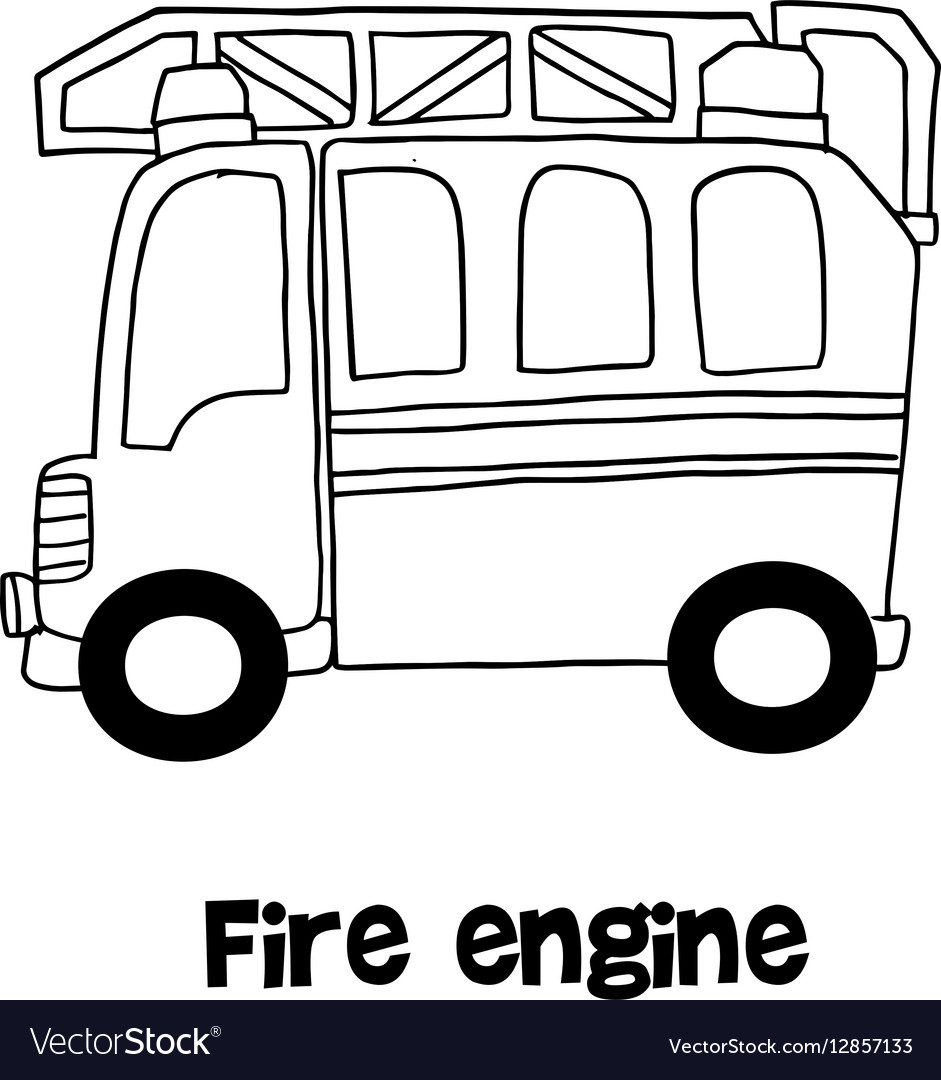 Fire engine with hand draw